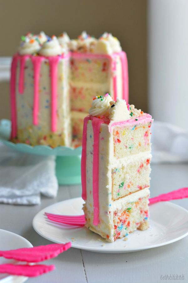 The Ultimate Funfetti Layer Cake Cake Recipes Pinterest
