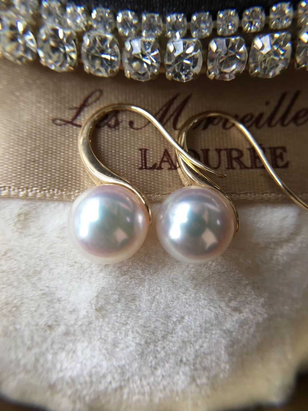 High Heel Earrings With 8 85mm Akoya Sea Pearls 456 For More
