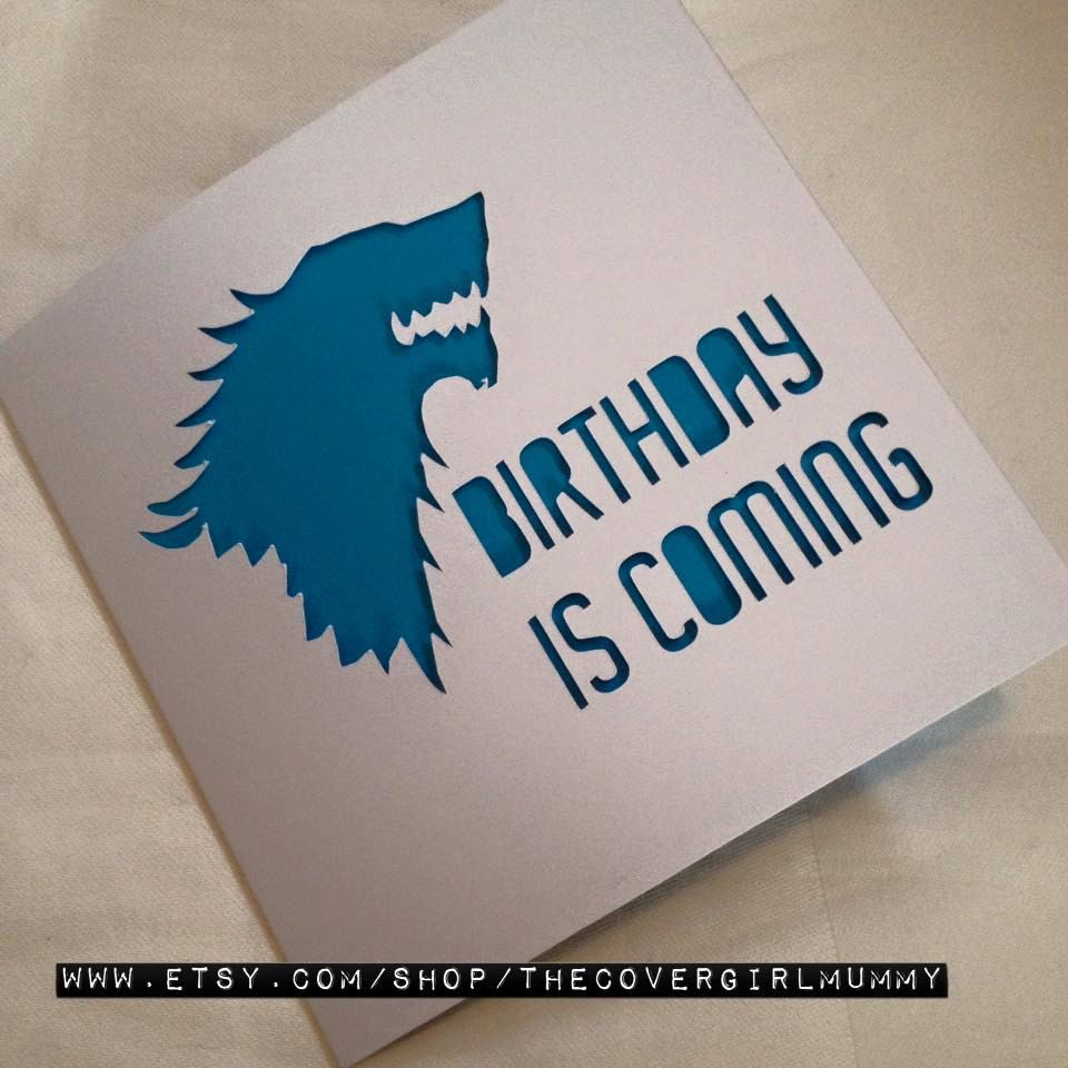 Game of Thrones game of thrones card GoT card name day card