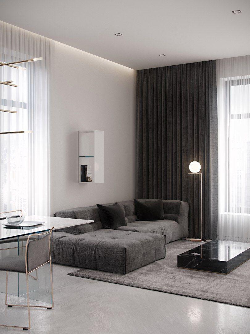 Landhaus Design, Ländliche Häuser, Wohnzimmerentwürfe, Wohnzimer, Innenarchitektur  Wohnzimmer, Wohnräume, Abendessen, Graue Vorhänge