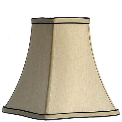 Cream W Black Trim Square Shade 1 2 Square Shades Diy Lighting Shades