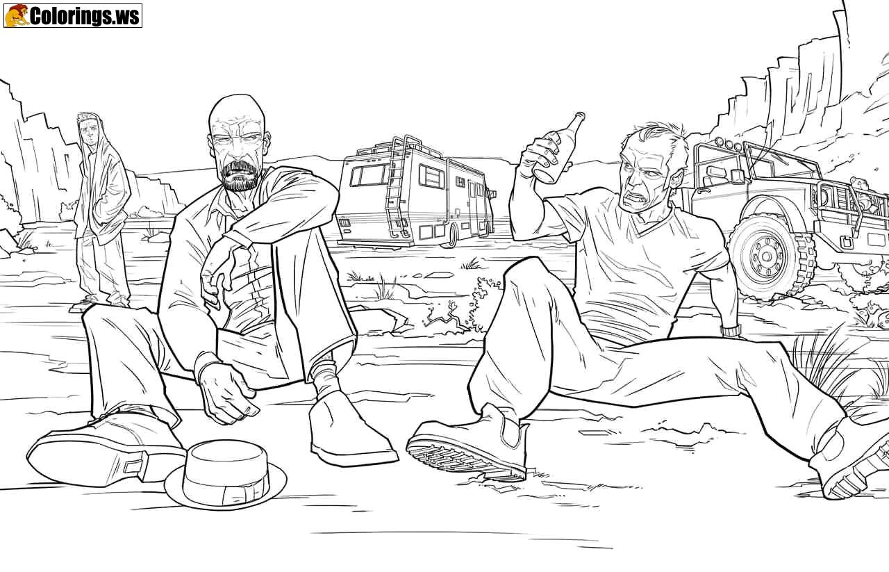 Gta 5 Coloring Page For Toddlers Gta 5 Coloring Pages Compared To The Console Version The Graphics Have Been Improved The Game Now Vo Vse Tyazhkie Anatomiya