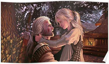 Geralt & Ciri Poster | The Witcher | The witcher, The