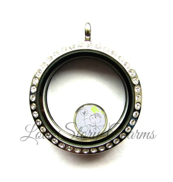 Your Child's Drawing Floating Charm  Fits by LoveStoryCharms
