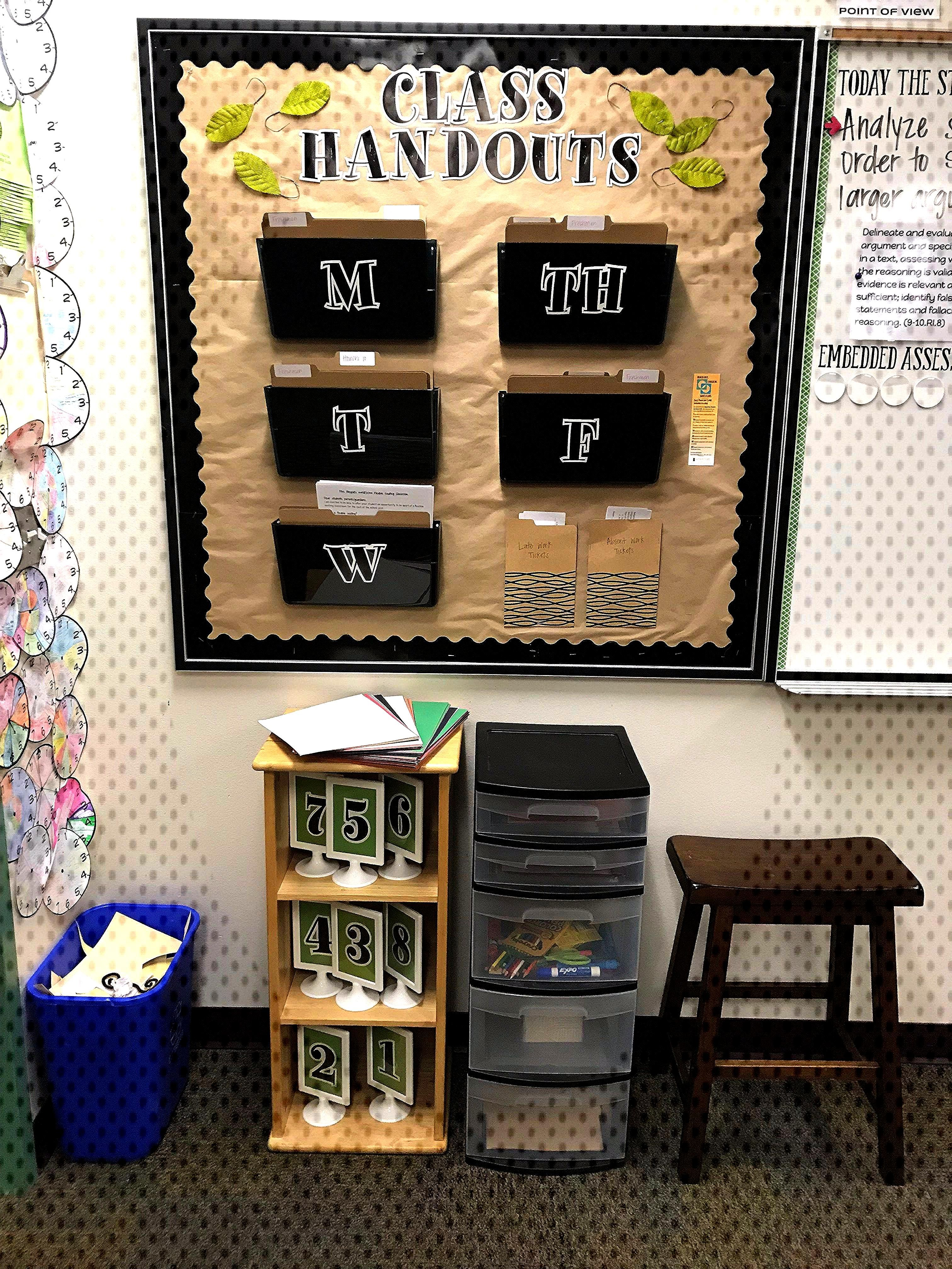 Flexible Seating and Classroom Organization in High School