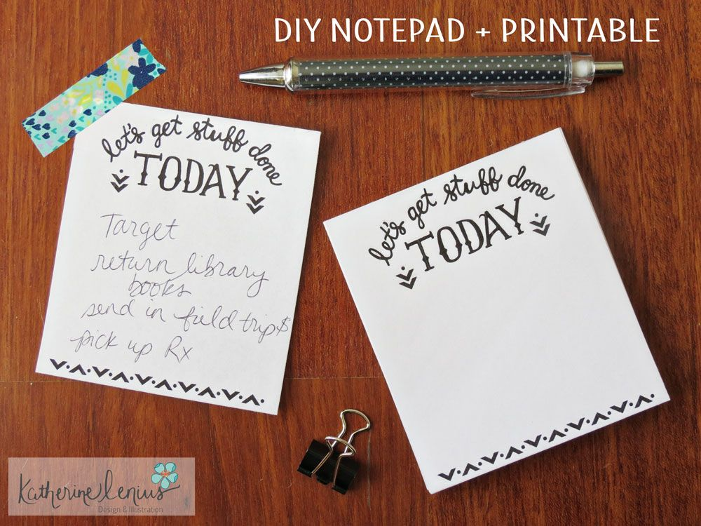 Printable Notepad Paper Diy Notepad Printable To Do List  Paper  Pinterest  Free .
