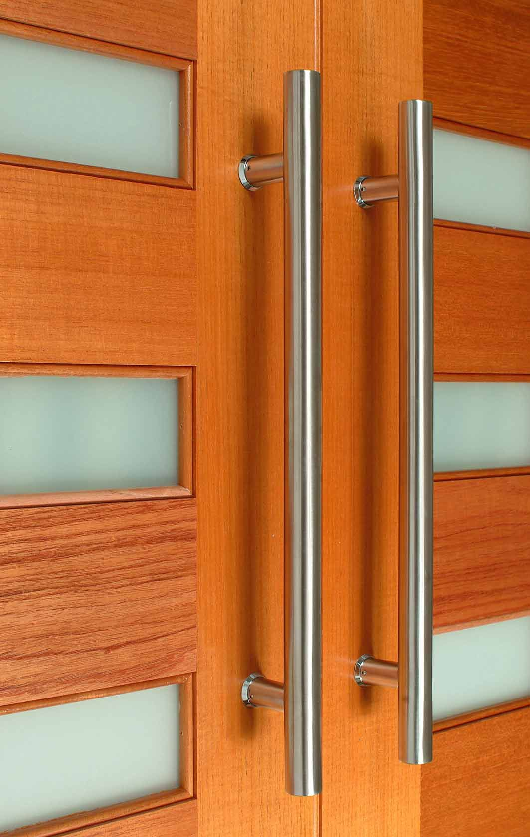 The Apollo front door pull handle is made from Stainless Steel ...