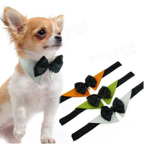 Pet Dog Adjustable Bow Tie Collar Wedding Tuxedo Fancy Dress ...
