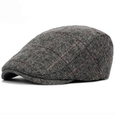 Fashion Polyester Cap Men/'s Autumn//Winter Beret Cotton Plaid Beret for Adults