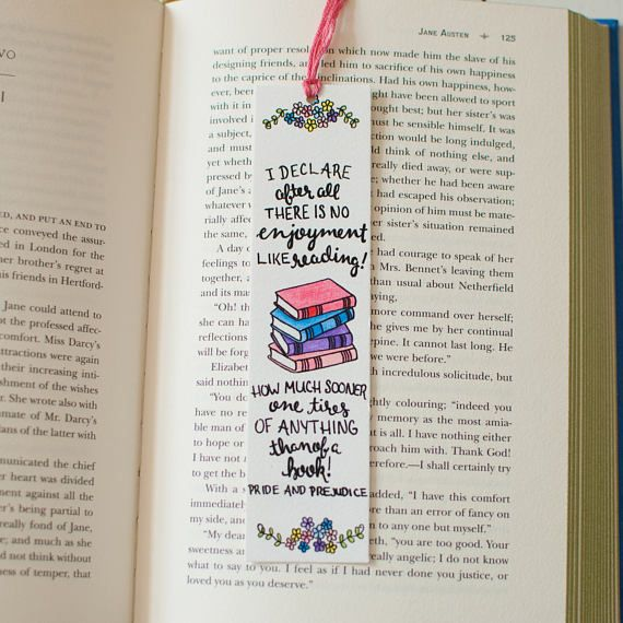 Pride And Prejudice Bookmark Jane Austen Illustrated Creative Bookmarks Bookmark Craft Bookmarks Handmade