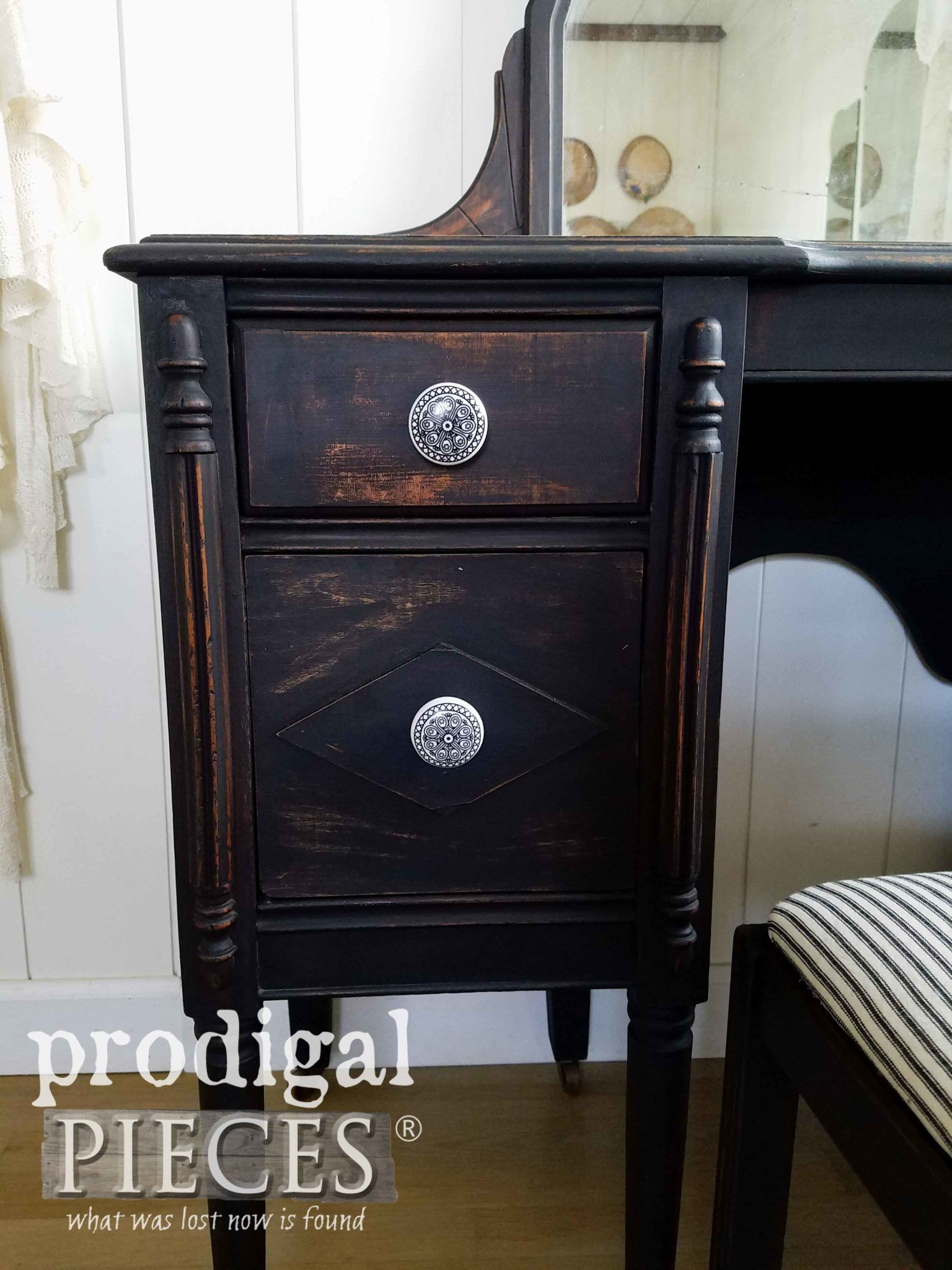 Black Antique Vanity Rustic & Refined Selling antique