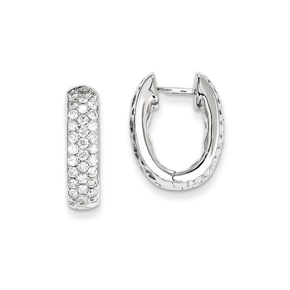 0328e520c Perfect Jewelry Gift 14k White Gold Diamond Hinged Hoop Earrings --  Wonderful of you to have dropped by to see our image. (This is our  affiliate link) # ...