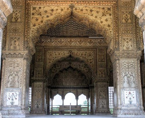 Beautiful Portals | waveofeuphoria: Inside of Diwan-i-Khas, India