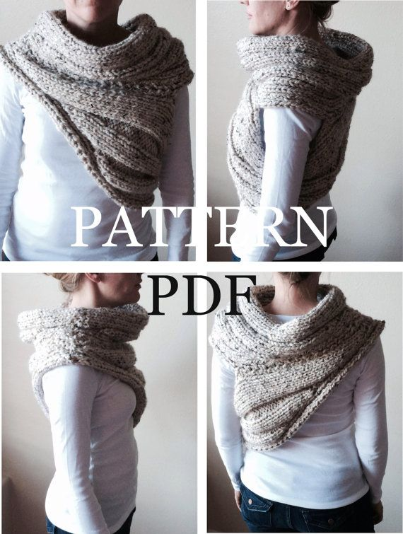 PATTERN PDF - Pattern for DIY Panem Katniss Inspired Cowl - Two ...