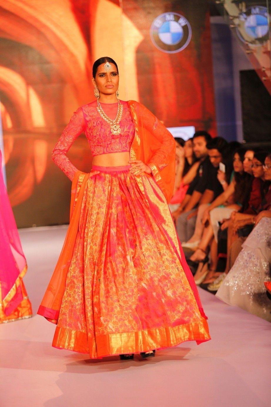 83795e30084f Pink Silk Kanjivaram Lehenga With Blouse | Saree | Lehenga, Silk ...