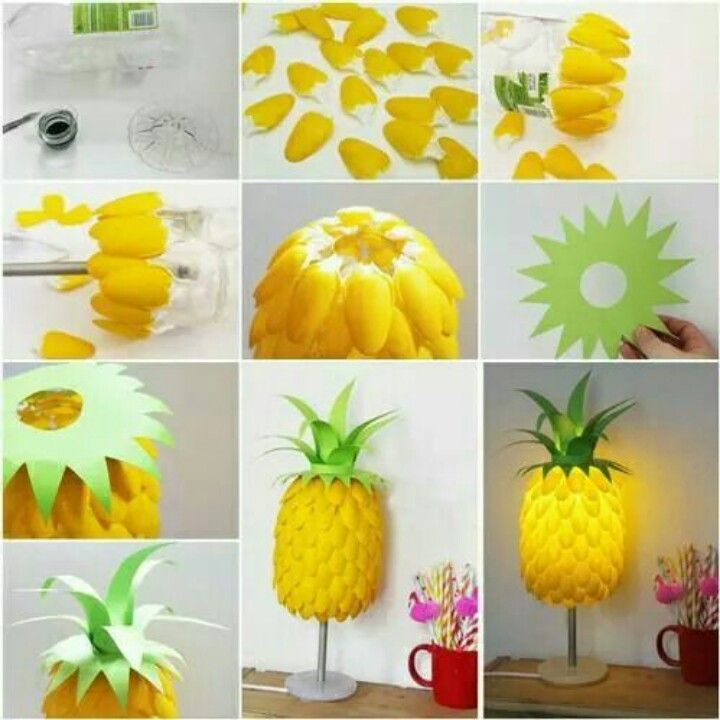 Make your own pineapple lamp