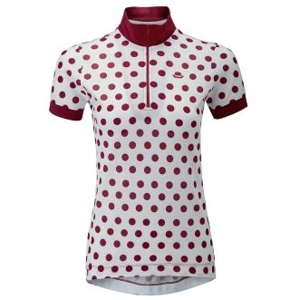 Chapeau Ladies Cycling Cafe Jersey White Polka Dots - NEW!  cd395409f