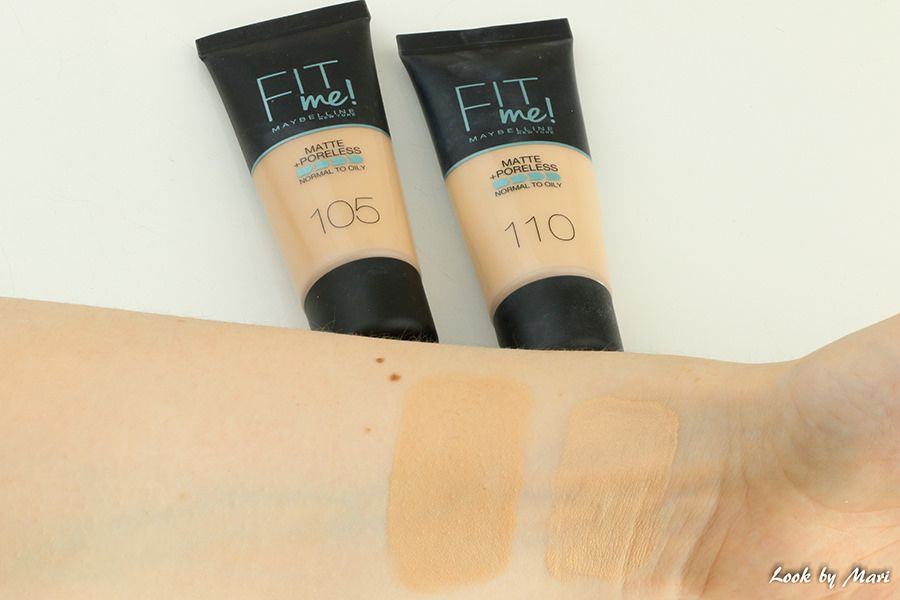 4 Maybelline Fit Me Matte Poreless Foundation Shades Review Swatches Fit Me Matte And Poreless Foundation Shades Favorite Makeup Products