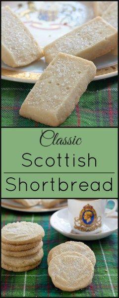 Classic Scottish Shortbread! An easy, 3 ingredient recipe!