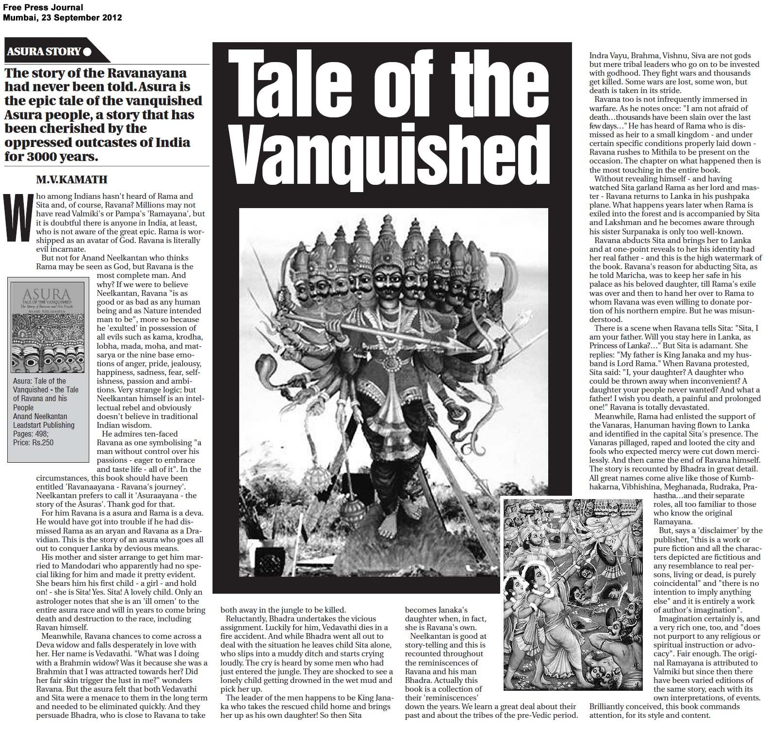 asura article 23rd sept - free press journal | Book Review
