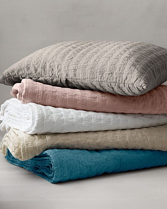 Eileen Fisher Rippled Organic Cotton Coverlet And Shams  For Mom?
