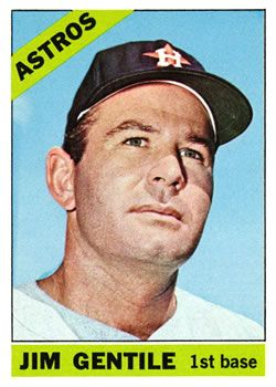 The Trading Card Database 1966 Topps 45 Jim Gentile Baseball Cards Astros Baseball
