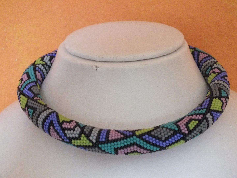 Muster zum Perlenhäkeln Chomisa 5 | Schmuck Ketten | Pinterest ...