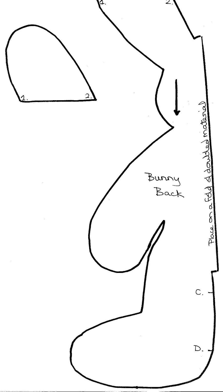 Las chorradikas de Laury: Patrón conejito de peluche de una pieza ...