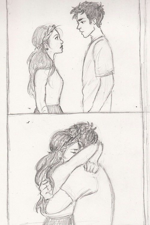 Image via We Heart It weheartit.com/... #boy #couple #drawing #girl #hug #love #picture -  - #Couple