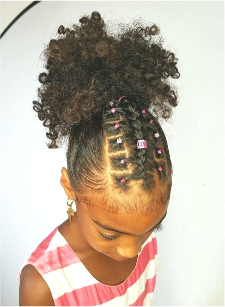Rubber Band Little Black Girl Ponytail Hairstyles Hairstyle In 2020 Hair Styles Black Girl Ponytails Rubber Band Hairstyles