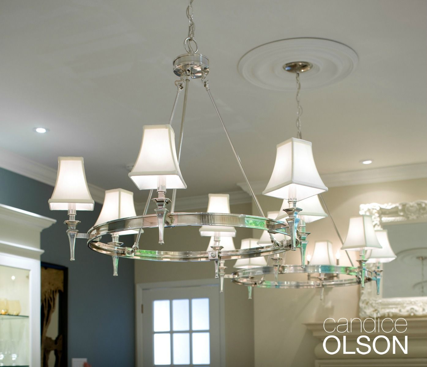 Chrome Chandeliers Marry Sleek Modern Style With A Touch Of