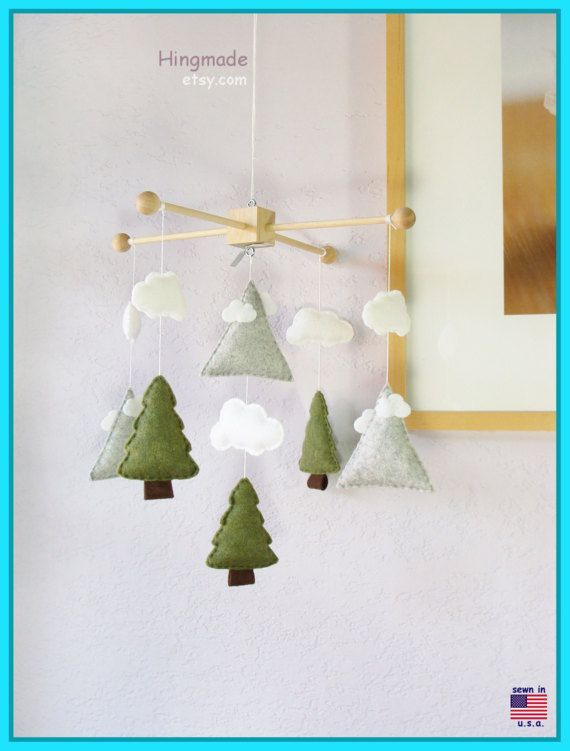 Mountains Baby Mobile Nordic Style Mountain And Tree