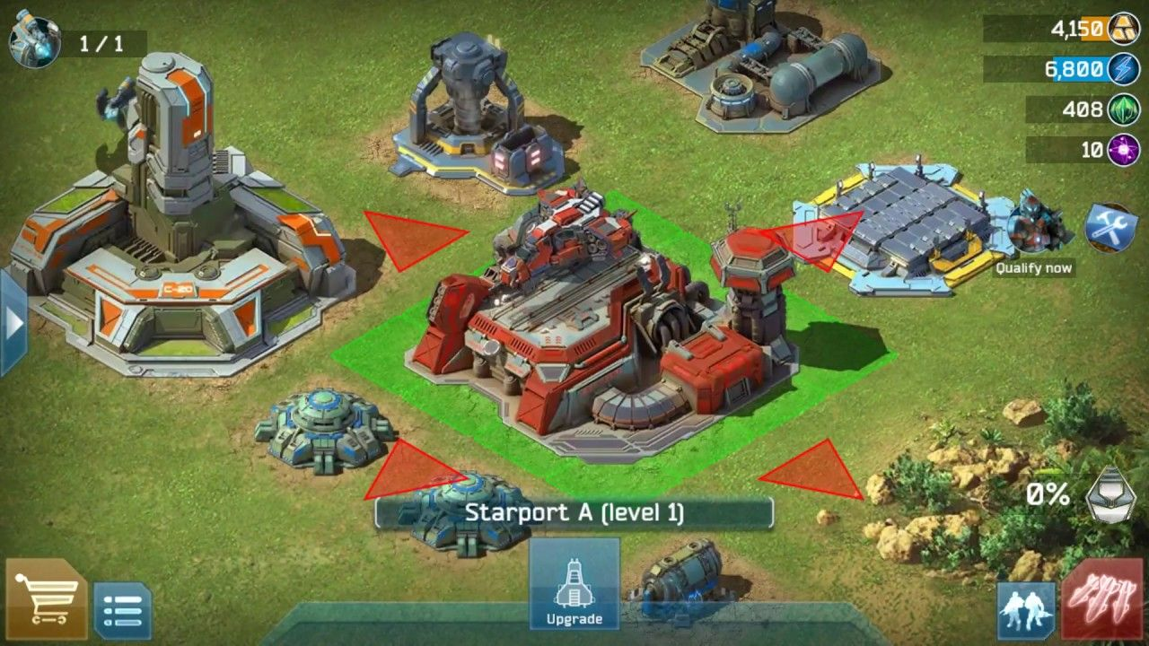 Battle For Galaxy RTS - Android and IOS gameplay ~ A good