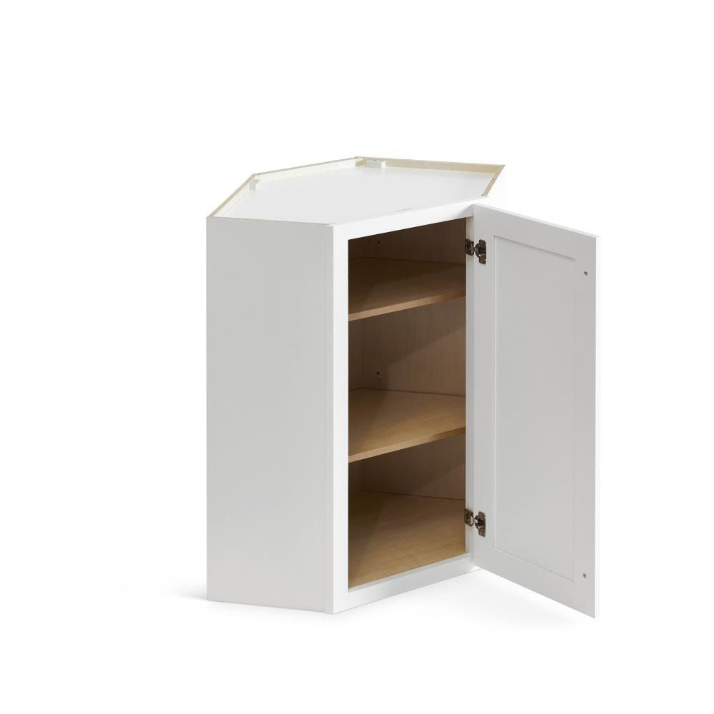 Valleywood Cabinetry 24 In W X 36 In H X 12 In D Pure White Birch Corner Wall Ready To Assemble Cabinet Lowes Com In 2021 Ready To Assemble Cabinets Stock Cabinets Plywood Shelves