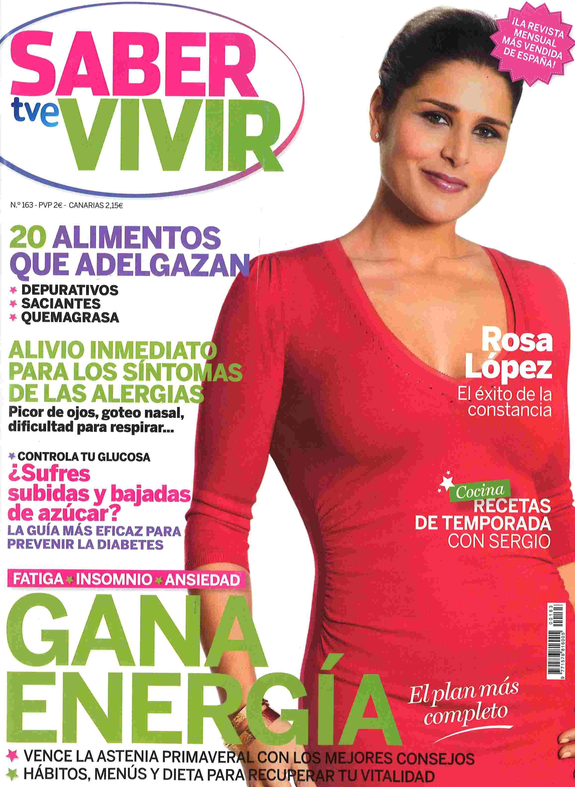Saber Vivir N 163 Maio 2014 Revistas Pinterest Revistas ~ Dieta Adelgazamiento Saber Vivir