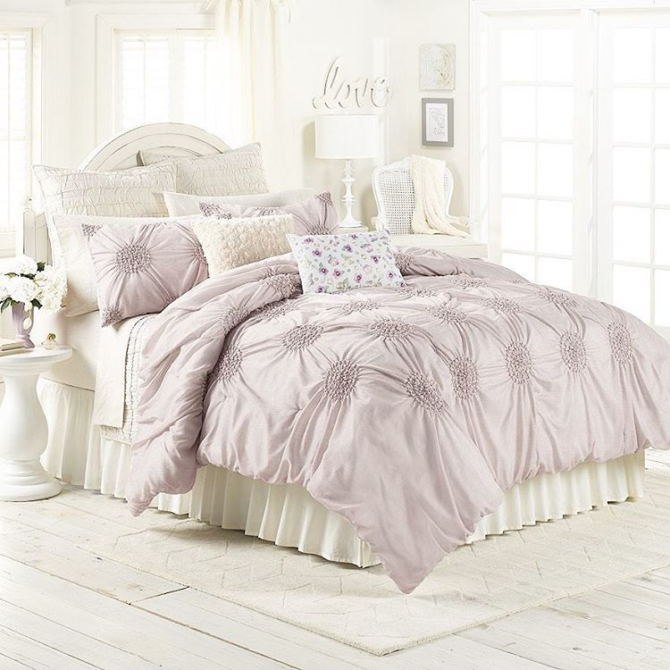 lc lauren conrad for kohls eloise bedding set in lilac - Liliac Bedding