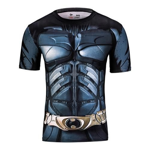 Cool Compression Fitted Shirt Winter Soldier Cosplay Shirt Short Sleeve