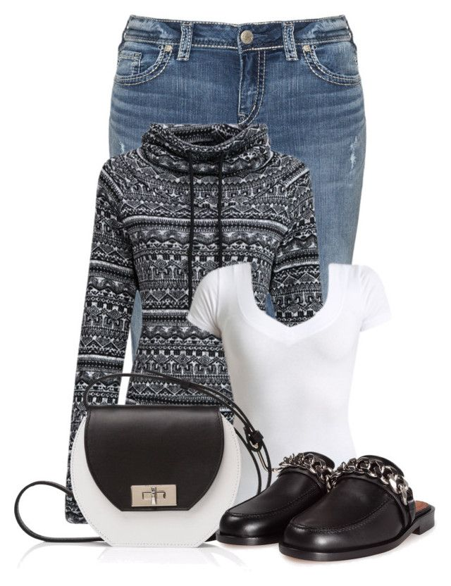 """""""Untitled #22417"""" by nanette-253 ❤ liked on Polyvore featuring Silver Jeans Co., WithChic, Wet Seal, Joanna Maxham and Givenchy"""