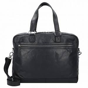 Photo of The Chesterfield Brand Blackburn Cartella pelle 42 cm scomparto Laptop nero