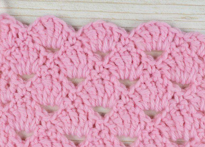 Shell stitch - schelp steek, found on - gevonden op : http://www ...