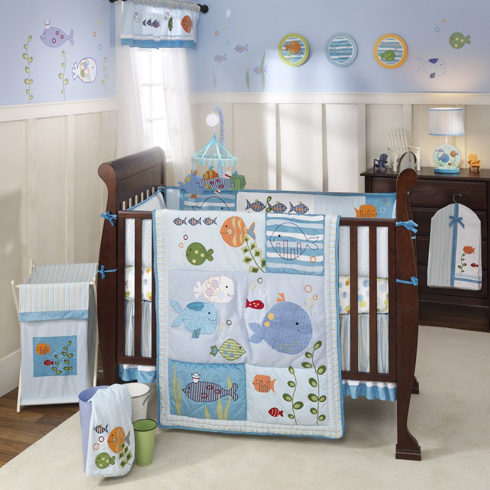 ocean theme nursery ideas under the sea baby crib bedding set by lambs u0026 ivy