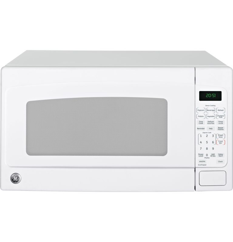 Ge Jes2051 2 Cubic Foot Countertop Microwave Oven With Turntable White Ovens