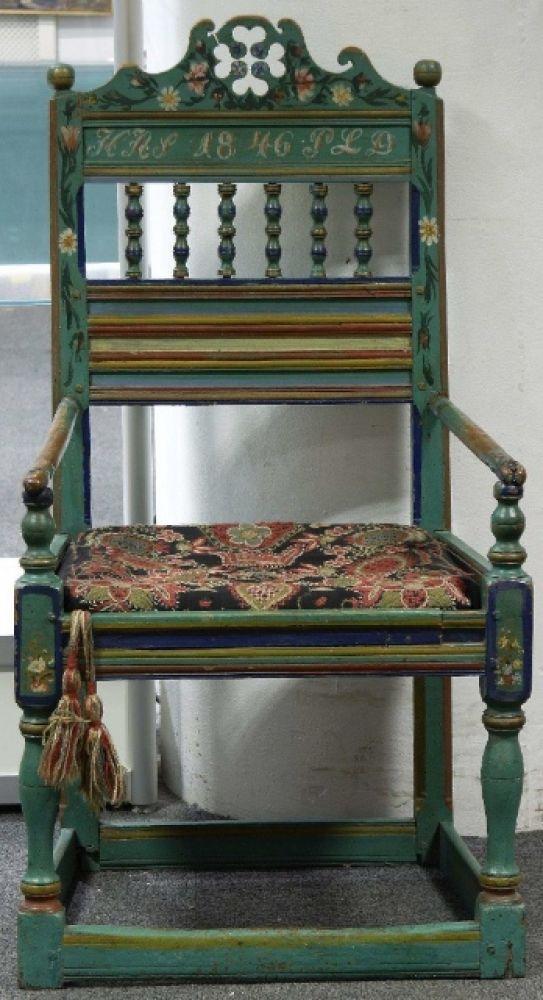 1800s Antique Swedish Handpainted Kurbits Country Chair Jpg Swedish Country Furniture Chairs Repurposed Painted Chairs