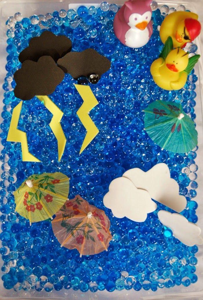 Rainy Day Sensory Bin | Weather | Sensory bins, Preschool ...