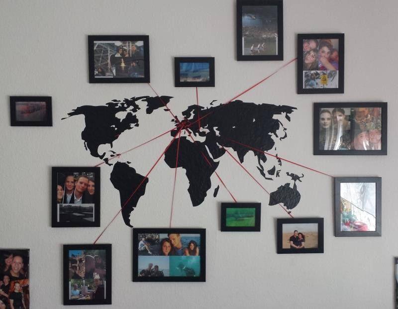 Weltkarte Map Wall Decor Vacation Memories Travel Wall