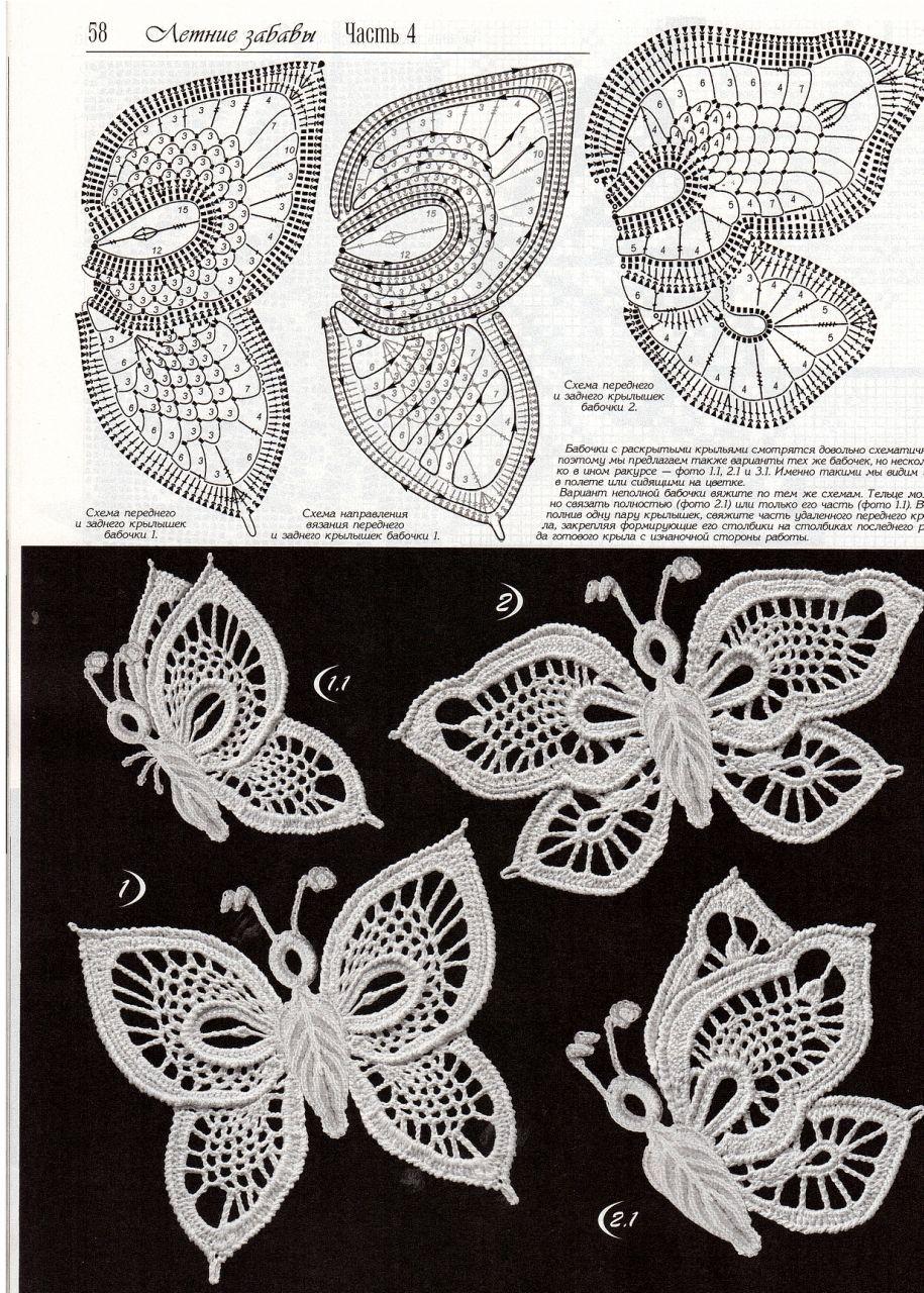 Irish Crochet en Picassa | Вязаное крючком платье «Вальс бабочек ...