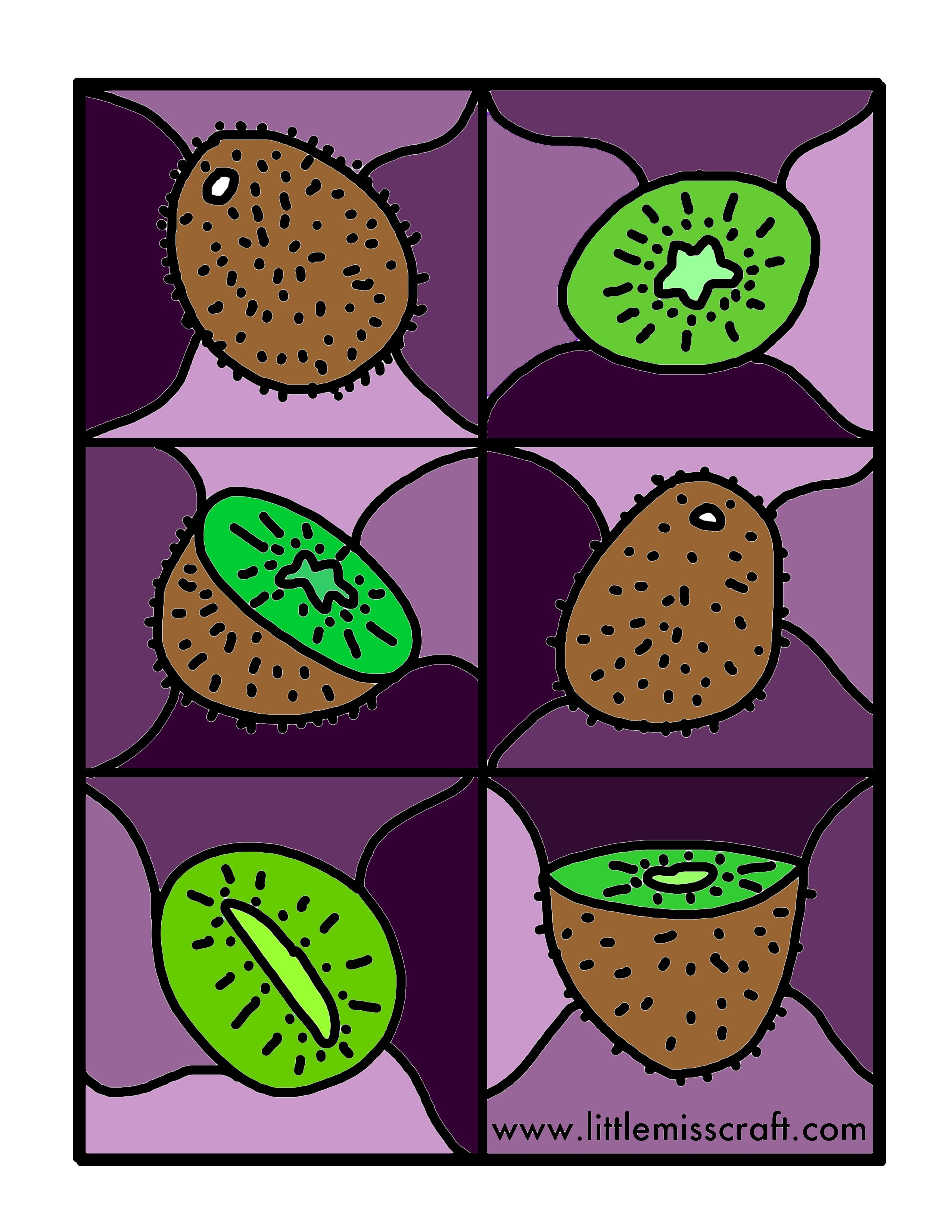 Printable coloring pages kiwi fruit