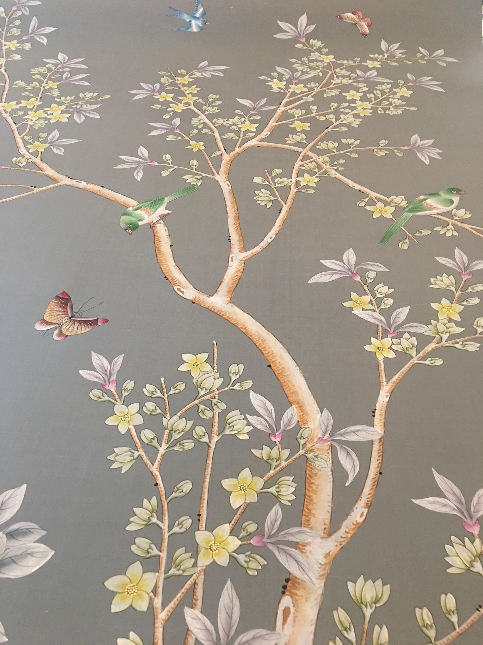 """2020 的 Chinoiserie Handpainted Artwork one panel of 53"""" by"""