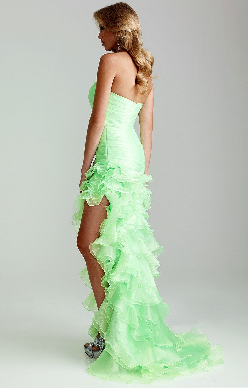 Made fits perfectly sweetheart organza high low lime green prom made fits perfectly sweetheart organza high low lime green prom dress ombrellifo Choice Image