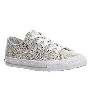 ae80da15841 Converse Ctas Gemma Low Leather Pure Silver Stingray Leather Exclusive -  Hers…